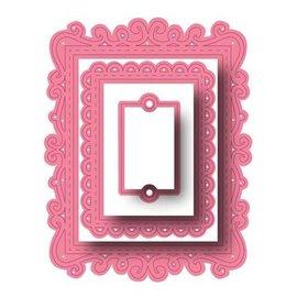 Joy!Crafts / Hobby Solutions Dies Ponsen sjabloon: sierlijst rechthoeken