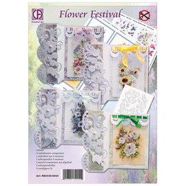BASTELSETS / CRAFT KITS komplet håndværk sæt til kort, Blomsterfestival