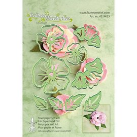 Leane Creatief - Lea'bilities make 3D flowers: punching template