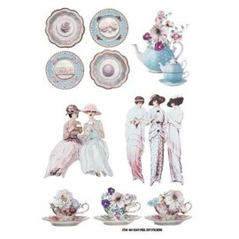 Embellishments / Verzierungen Etiqueta Escena: Tea Party