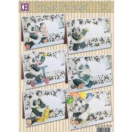 BASTELSETS / CRAFT KITS komplett kartsamlingen, Panda Parade