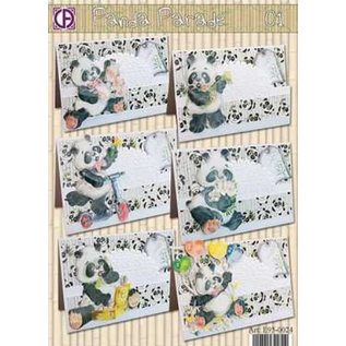 BASTELSETS / CRAFT KITS komplettes Kartenset, Panda Parade
