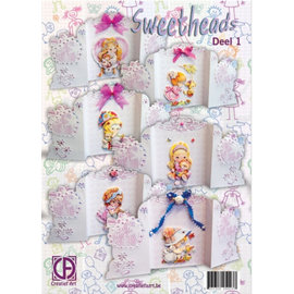BASTELSETS / CRAFT KITS komplet kort Kit: Sweetheads