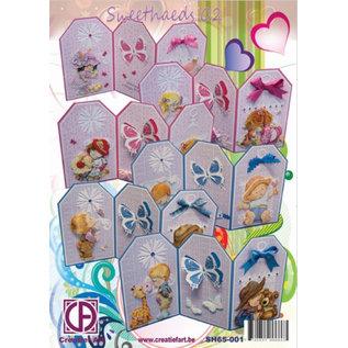 BASTELSETS / CRAFT KITS komplet kort Kit: Sweetheads