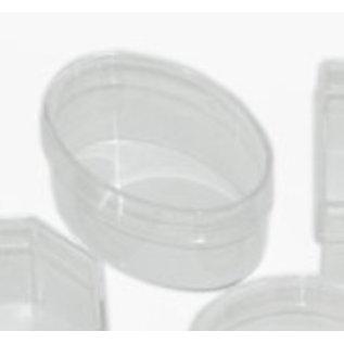 BASTELZUBEHÖR, WERKZEUG UND AUFBEWAHRUNG Akryl kasse: oval med låg