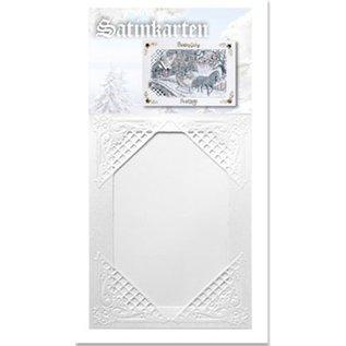 KARTEN und Zubehör / Cards Satinkarten, weiß