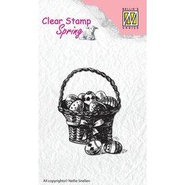 Nellie Snellen timbro trasparente: Cestino con le uova di Pasqua