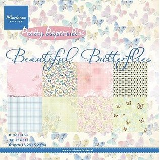 Marianne Design Designer Block: Beautiful Butterflies