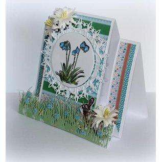 Joy!Crafts / Jeanine´s Art, Hobby Solutions Dies /  Stanzschablonen: Gras Bordüre mit Blumen