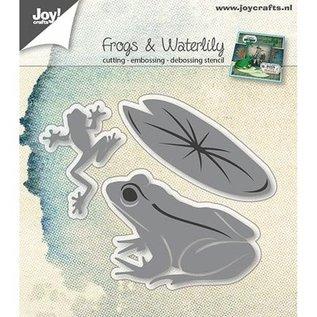 Joy!Crafts / Jeanine´s Art, Hobby Solutions Dies /  Stanzschablonen: Frösche und Seerosenblatt