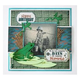 Joy!Crafts / Hobby Solutions Dies Stamping stencils: frogs and lily pads