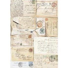 DECOUPAGE AND ACCESSOIRES Silkpaper Cartes postales de Powertex