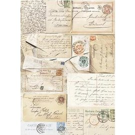 DECOUPAGE AND ACCESSOIRES Silkpaper Postcards from Powertex