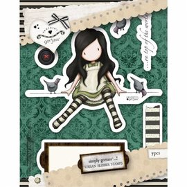 Gorjuss / Santoro Rubber stamp by Urban, On Top of the World - ONLY 1 in stock!