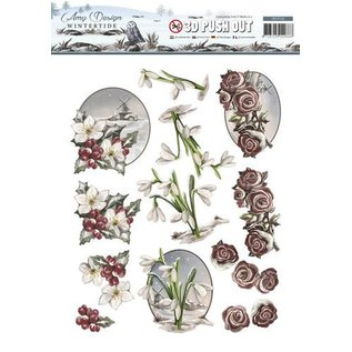 AMY DESIGN Die cut sheets: Flowers