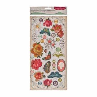 Embellishments / Verzierungen spaanplaat stickers, 34 ontwerpen
