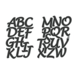 Joy!Crafts / Hobby Solutions Dies Stanzschablone: Buchstaben