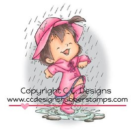 C.C.Designs carimbo de borracha, Puddle Jumping Twila