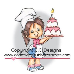 C.C.Designs Gummi stempel, Baker Nancy