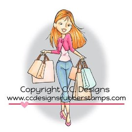 C.C.Designs carimbo de borracha, compras Erica. único disponível!