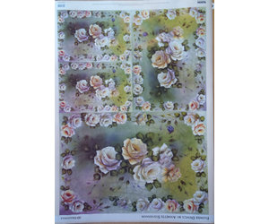 Decoupage And Accessoires Decoupage Paper Flower Design Hobby