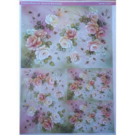 DECOUPAGE AND ACCESSOIRES Decoupage rosas de papel Projeto