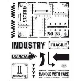 My paperworld (Viva Decor) timbre transparent: style industriel