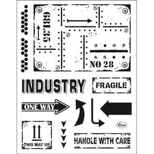 My paperworld (Viva Decor) Transparant stempel: industriële stijl