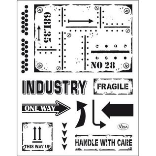 My paperworld (Viva Decor) Transparent stempel: Industriel stil