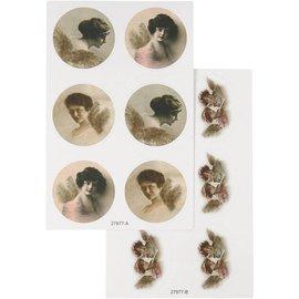 Embellishments / Verzierungen Sticker with nostalgic images