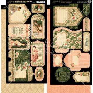 GRAPHIC 45 2 Bogen mit Lady Labels und Tasche (Pockets)