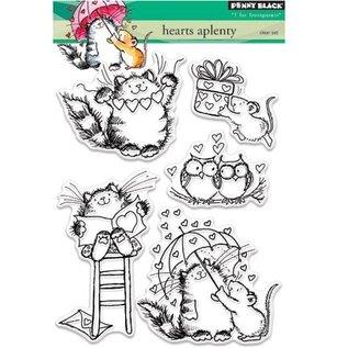 Penny Black Gennemsigtige Frimærker: søde kat, mus og Owl