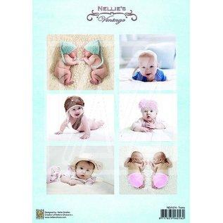 BILDER / PICTURES: Studio Light, Staf Wesenbeek, Willem Haenraets 1 Bilderbogen A4: bébé et jumeaux Vintage