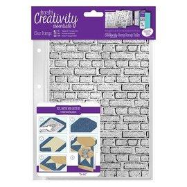 Docrafts / Papermania / Urban Transparente selos A5: Pedras da parede