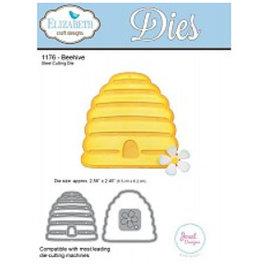 Elisabeth Craft Dies , By Lene, Lawn Fawn Stempling og prægning skabelon: Beehive wafer