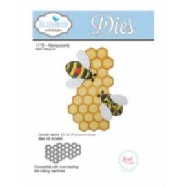 Elisabeth Craft Dies , By Lene, Lawn Fawn Stampaggio e goffratura modello: 1 a nido d'ape