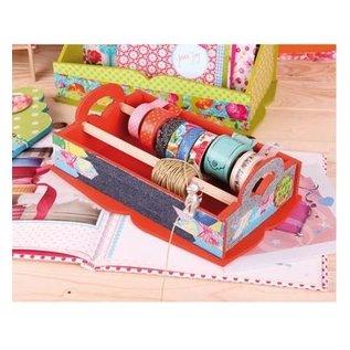 Objekten zum Dekorieren / objects for decorating Holtz boks til opbevaring af dekorative bånd