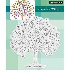 Penny Black selo transparente: árvore do coração