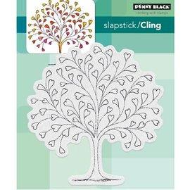 Penny Black Timbre en caoutchouc: arbre de coeur
