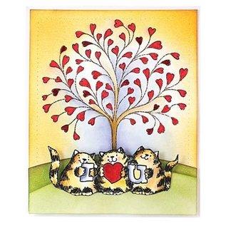 Penny Black Gummi Stempel: Herzen Baum