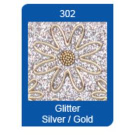 Sticker Micro Glitter Stickers, lignes, argent / or