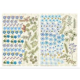 BLUMEN (MINI) UND ACCESOIRES Twin Pack flowerart, blauw, klein