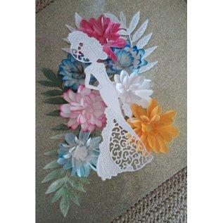 Embellishments / Verzierungen Ornamenten: 3D bloemen en nostalgische vrouwen