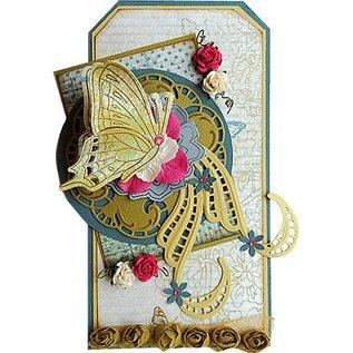 Marianne Design Skæring og prægning skabelon + frimærker: sommerfugle