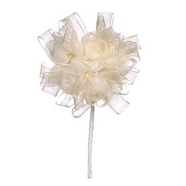 BLUMEN (MINI) UND ACCESOIRES Colar floral, marfim, 3,5 centímetros - 10 centímetros.