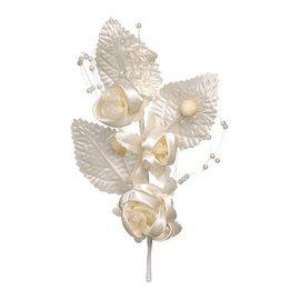 BLUMEN (MINI) UND ACCESOIRES Pick flowers, ivory, 14cm, 1 piece.