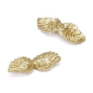 Embellishments / Verzierungen Engelsflügel, gold, 4,5cm, 6 Stück.