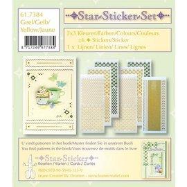 Sticker Star stickers set 2x3 star stickers + 1 lijn sticker