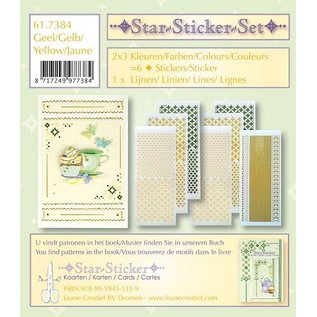 Sticker Star stickers set 2x3 star stickers + 1 lijn sticker