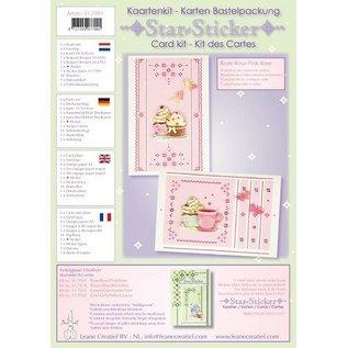 En stjerne klistermærker kaarten compleet kit voor 6 kaarten